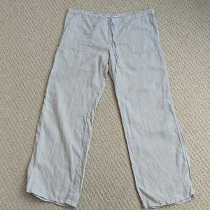 Victoria's Secret Tan Wide Leg Linen Pants